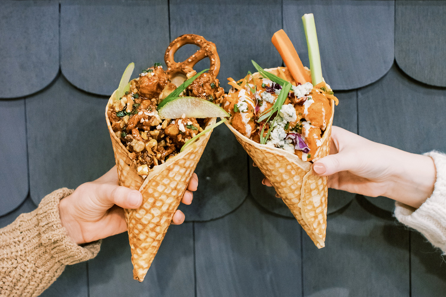 Buttercup Chicken Tenders Waffle Cones Order Plano Texas Legacy Food Hall
